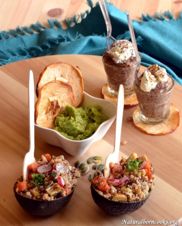 Quinoa_farro_red_lentils_salad_hummus