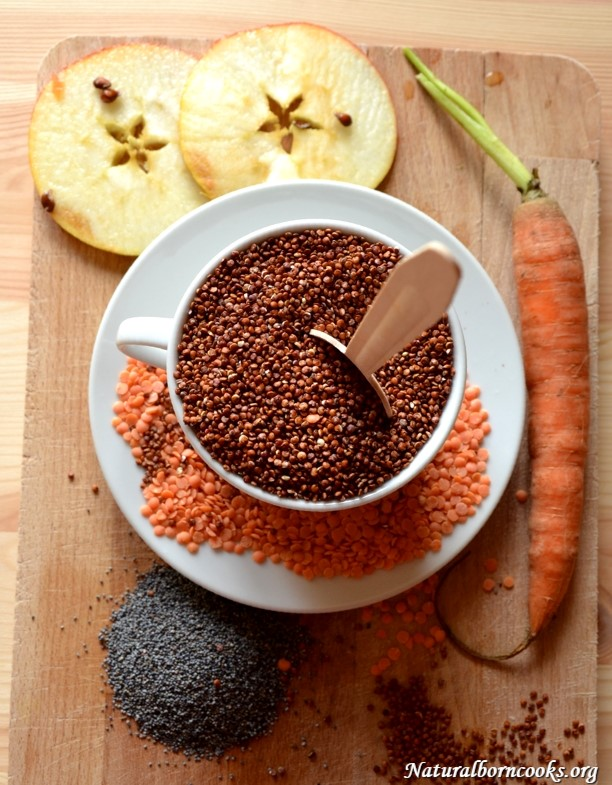 quinoa_red_lentils_poppy_seeds_apple